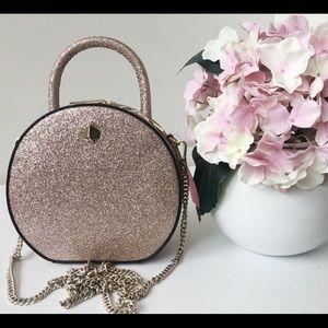 NWT Kate Spade andi glitter mini canteen bag